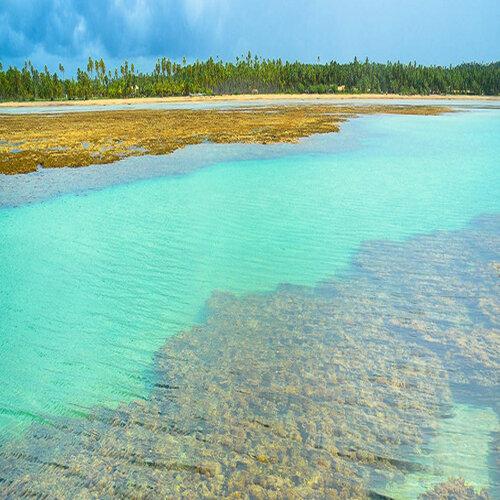 Piscinas naturais na Praia do Patacho